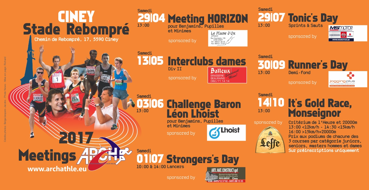 Prochain meeting Runner's Day 30 septembre
